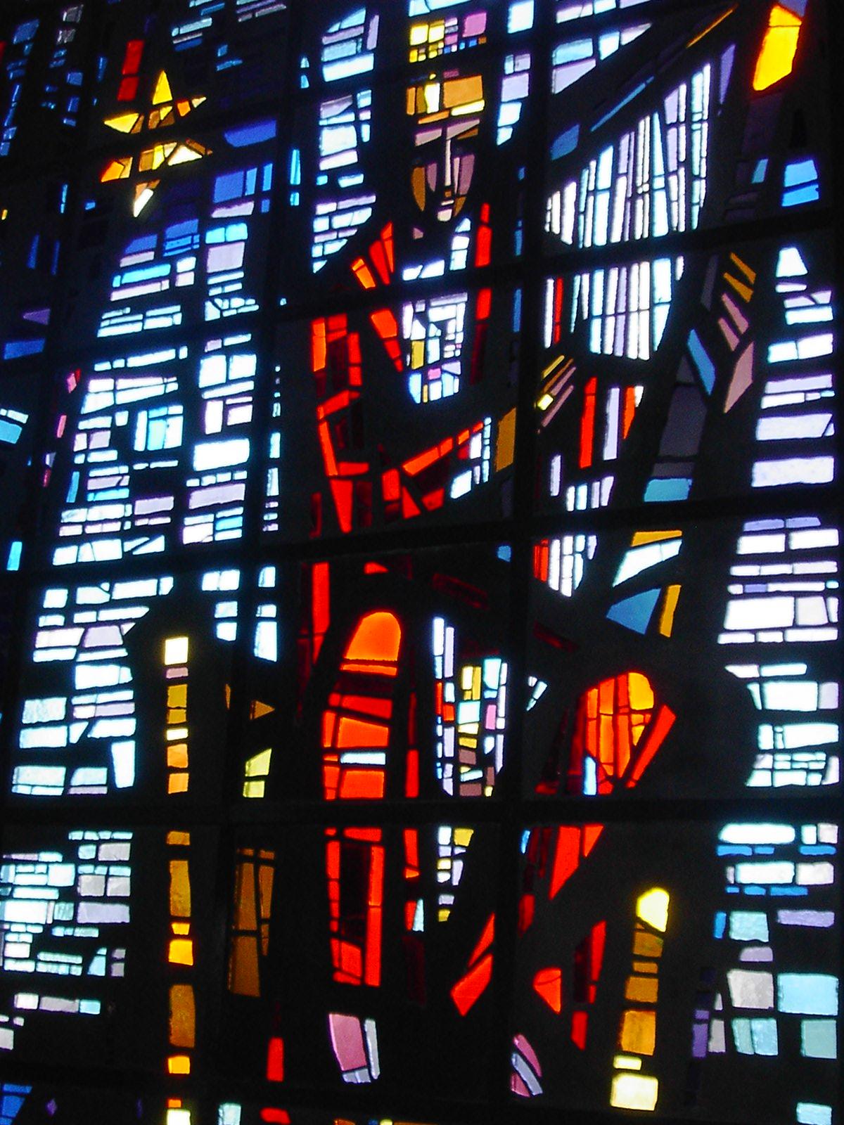 David-Fenster der Christkönigskirche Backnang