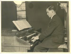 Karl Rettenmaier, ca. 1952, Link-Orgel