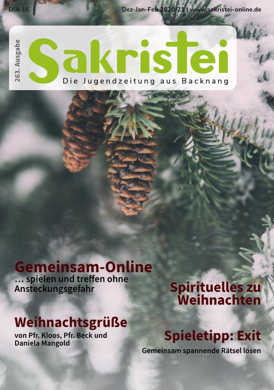 Tittelbild-Jugendzeitung Sakristei-Ausgabe 263Sakristei